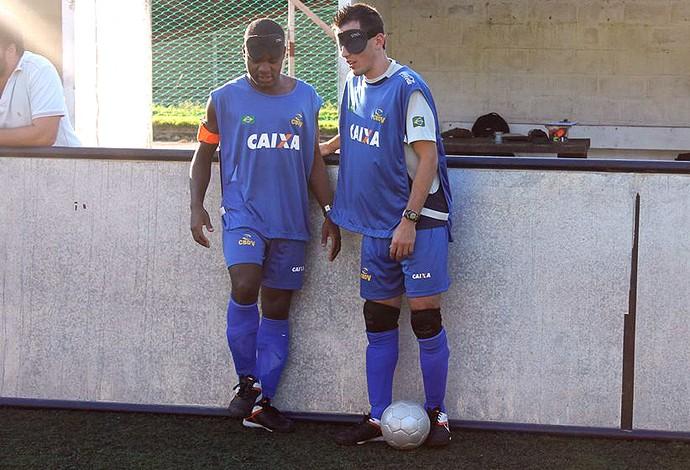 Jefinho e Ricardinho time paralimpico futebol de 5 (Foto: Divulgação / CBDV)