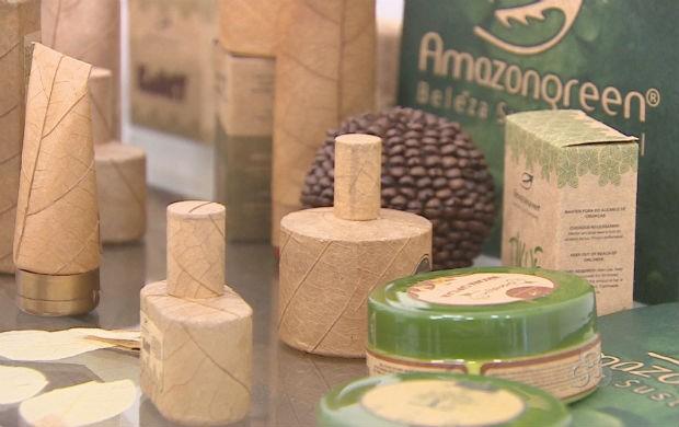 Cosméticos produzidos com produtos da floresta (Foto: Reprodução/TV Amapá)