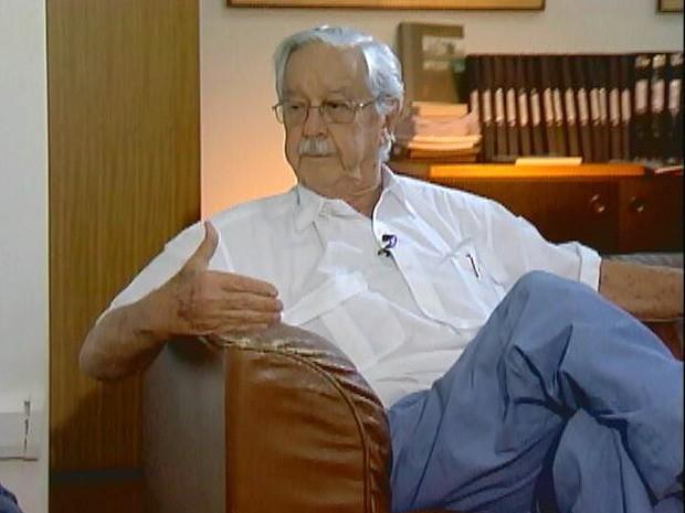 Cícero Junqueira Franco morreu aos 84 anos em São Paulo, SP (Foto: Reprodução/EPTV)