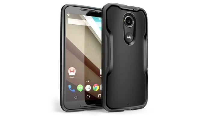 Capa de TPU preta para smartphone Moto X 2014 (Foto: Reprodução/Novidi)