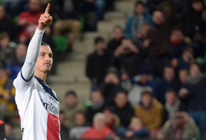Ibrahimovic, Rennes x PSG (Foto: AFP)