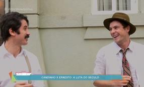 Sergio Guizé e Eriberto Leão mostram bastidores de briga em 'Êta Mundo Bom!'
