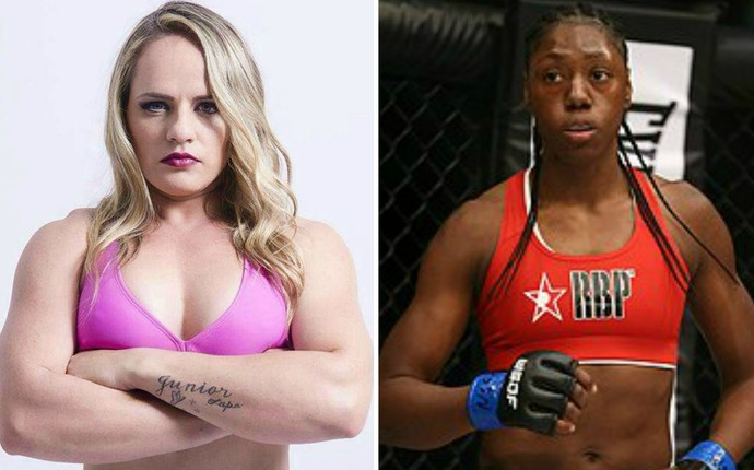 Carina Damm, Marciea Allen, MMA, Dakota FC 21 (Foto: Editoria de arte)