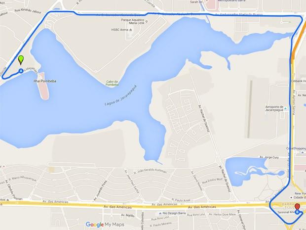 Prefeitura recomenda que fãs utilizem transporte público; BRT terá ponto na entrada da Cidade do Rock (Foto: Reprodução/Google Maps)