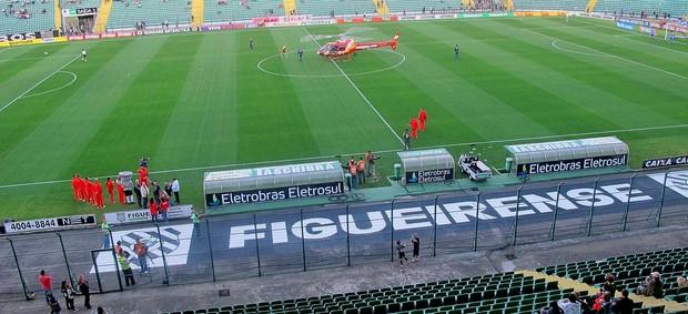 estádio orlando scarpelli figueirense x Palmeiras (Foto: Diego Ribeiro / Globoesporte.com)