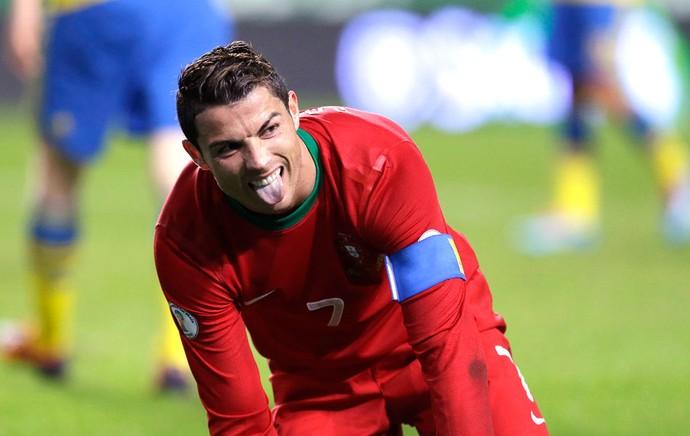 Cristiano Ronaldo Portugal e Suécia (Foto: Agência AP )