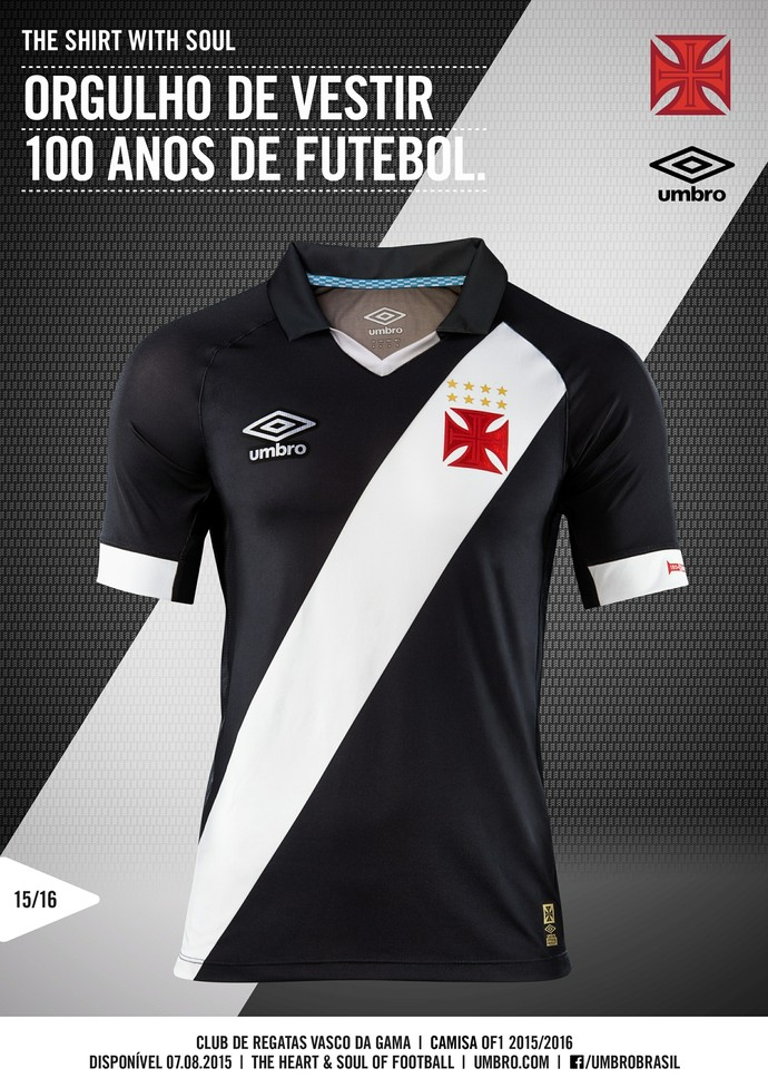 Curtinha  Vasco apresenta novos uniformes 2015 16 nas redes sociais 3e2587145fcc8