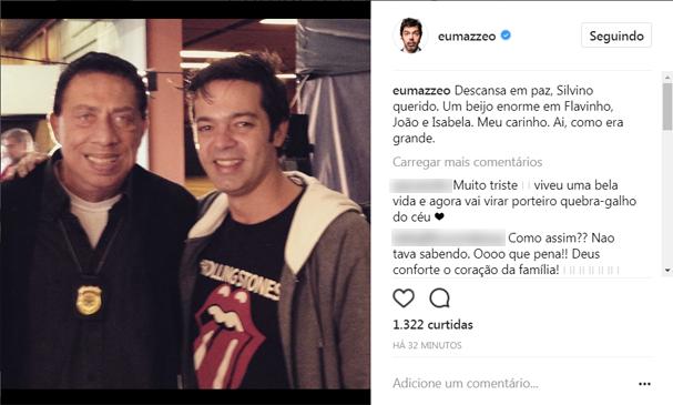 Bruno Mazzeo lamenta a morte de Paulo Silvino (Foto: Reprodução/Instagram)