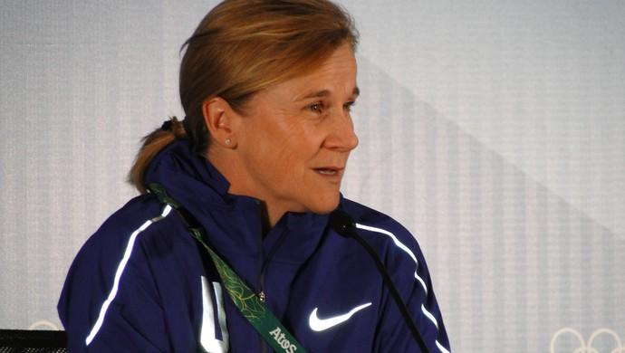 Jill Ellis, técnica do time feminino de futebol dos EUA (Foto: Fernando Martins Y Miguel)
