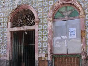 Casarão na Rua da Palma, no centro histórico de São Luís  (Foto: Flora Dolores/O Estado)