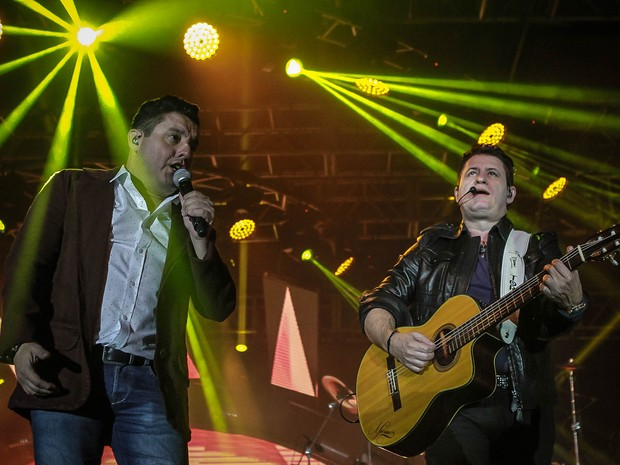Bruno e Marrone em show em São Paulo (Foto: Raphael Castello/ Ag. News)