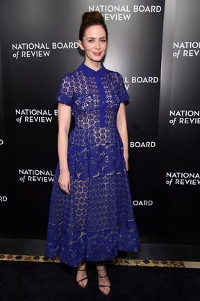 Emily Blunt em evento em Nova York, nos Estados Unidos (Foto: Jamie McCarthy/ Getty Images/ AFP)