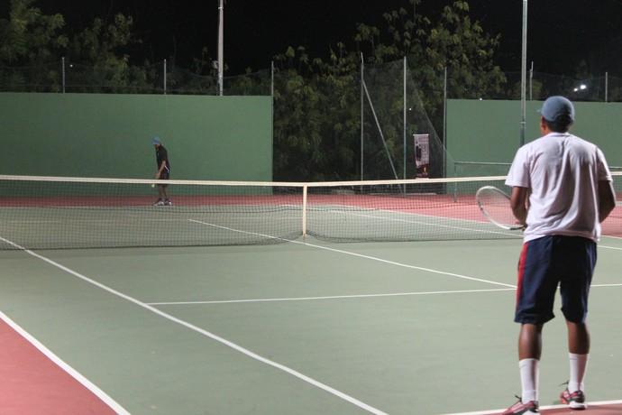 Desafio de tênis Petrolina x Recife (Foto: Magda Lomeu)