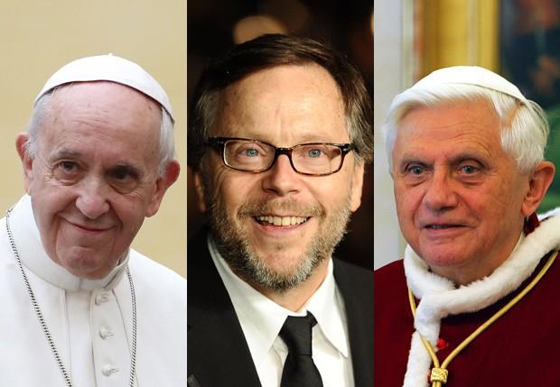 Papa Francisco, Fernando Meirelles e Papa Bento XVI (Foto: Getty Images)