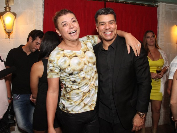 David Brazil e Maurício Mattar em restaurante na Zona Oeste do Rio (Foto: Thyago Andrade/ Foto Rio News)