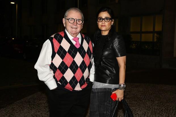 Jô Soares e a ex-mulher, Flávia (Foto: Manuela Scarpa e Marcos Ribas/Photo Rio News)