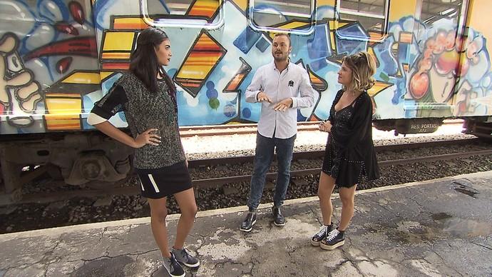 'Expresso da Moda' acrescenta ainda mais estilo ao clássico preto e branco (Foto: TV Bahia)