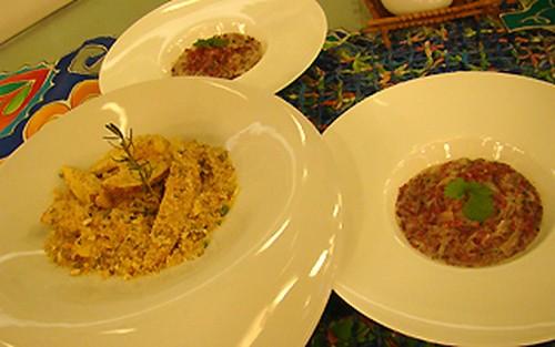 Batata Crocante Com Carne Seca ao Coco