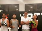 Sabrina Sato e Duda Nagle mostram disposição em treino de luta