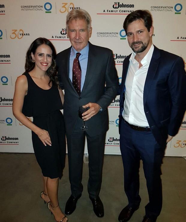 Paula Bezerra de Mello, Harrison Ford e Luis Justo (Foto: Divulgação)