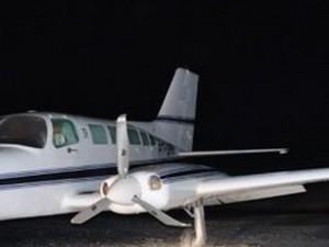 Avião fez pouso forçado em Patrocínio (Foto: Patrocínio Online/Divulgação)