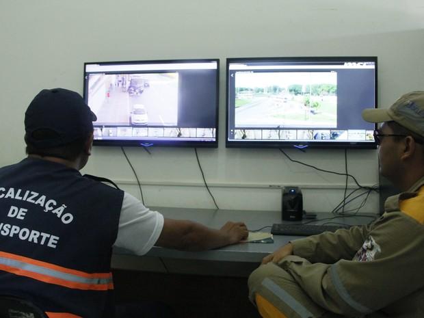 Trânsito na área do aeroporto de Belém passa a ser monitorado por vídeo (Foto: Elza Forte/Agência Belém)