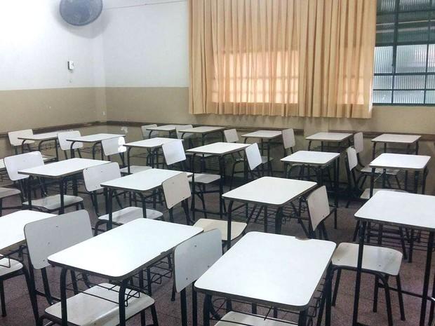 Escola municipal em Uberlândia (Foto: Caroline Aleixo/G1)