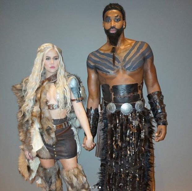 Khloé Kardashian e o namorado, Tristan Thompson (Foto: Reprodução/Instagram)