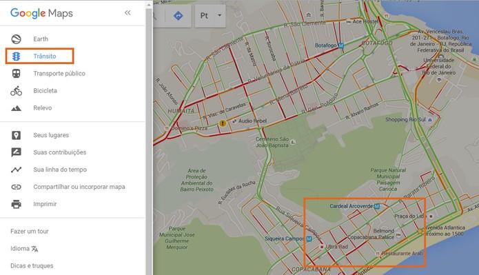 Veja os mapas de trânsitos no Google Maps (Foto: Reprodução/Barbara Mannara)