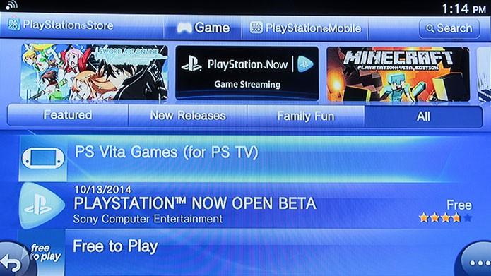 A lista de jogos compatíveis com o PlayStation TV é pequena (Foto: Tais Carvalho/TechTudo)
