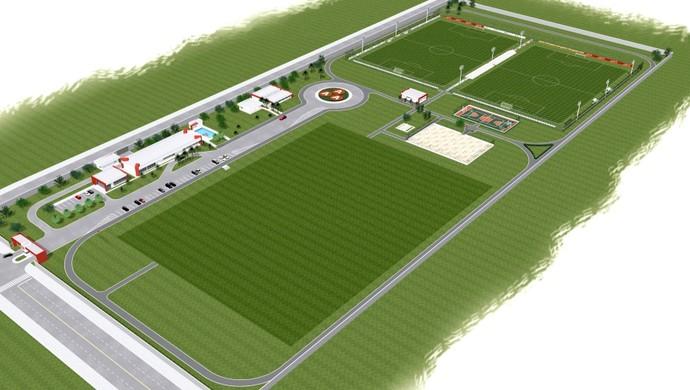 Projeto do Centro de Trinamentos da Anapolina (Foto: Associação Atlética Anapolina)