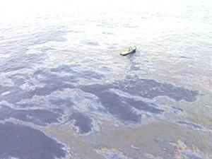 Segundo vazamento em poço da Chevron (Foto: Reprodução Globo News)