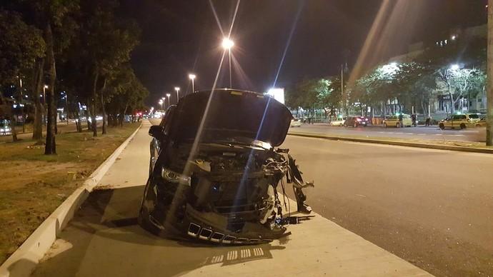 Carro de Andrezinho, Vasco, acidente, Barra da Tijuca (Foto: Felipe Schimdt)