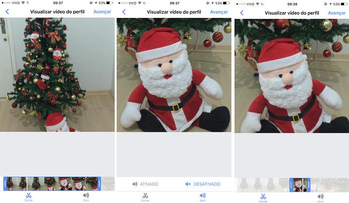 Edição da foto em vídeo para perfil do Facebook (Foto: Aline Jesus/Reprodução)