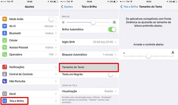 WhatsApp depende de configurações do iOS para ter fontes maiores no iPhone (Foto: Reprodução/Elson de Souza)