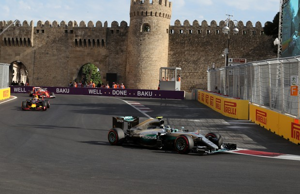 Nico Rosberg (Mercedes), no GP do Azerbaijão de Fórmula 1 (Foto: Divulgação)
