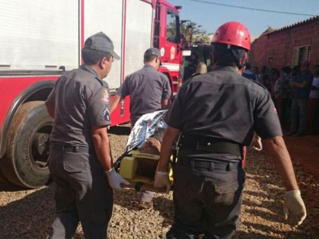 Vítima caiu em buraco com 20 metros de profundidade (Foto: Ana Carolina Levorato/G1)