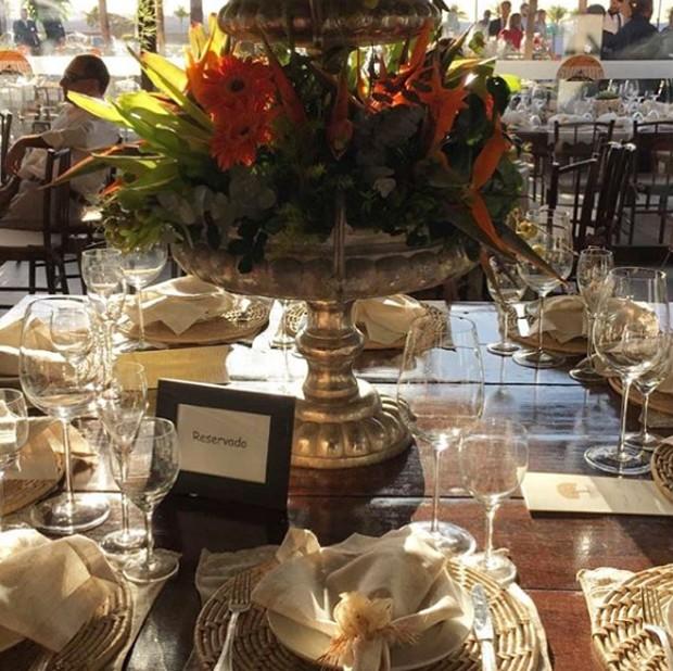 Parte da decoração do casamento (Foto: Reprodução)