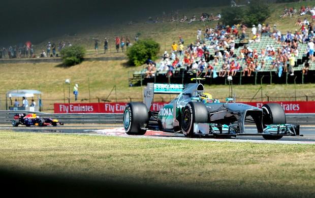 Hamilton treino GP Hungria (Foto: AFP)