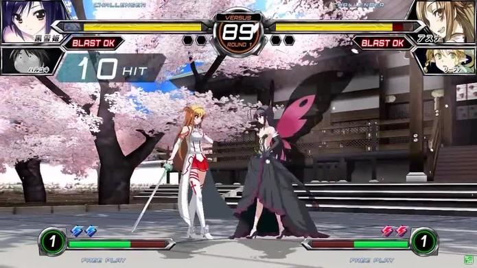 Asuna em Dengeki Bunko: Fighting Climax (Foto: Divulgação/Sega)