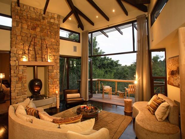 Casa na árvore do hotel Tsala Treetop Lodge, na África do Sul (Foto: Divulgação/Tsala Treetop Lodge)