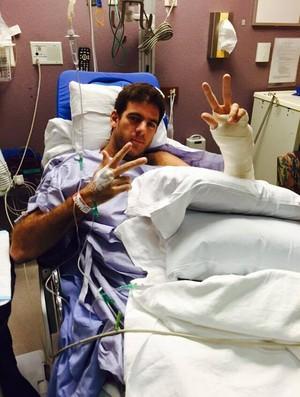 juan martin del potro cirurgia mão esquerda tênis (Foto: Reprodução/Facebook)