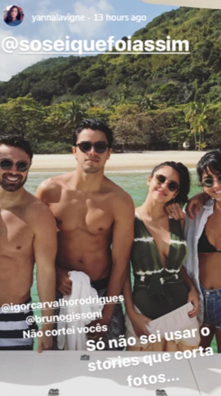 Igor Carvalho, Rodrigo Simas, Yanna Lavigne e Beatriz Dias (Foto: Reprodução)
