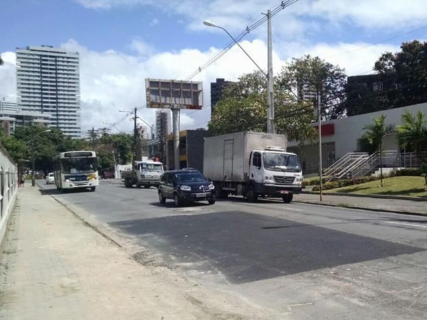 Obra concluída no Parnamirim (Foto: Lorena Aquino/G1)