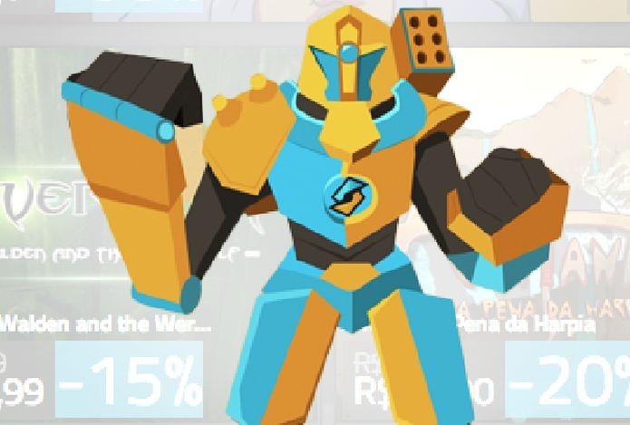 Robô mascote do Splitplay, loja de games brasileira (Foto: Divulgação)