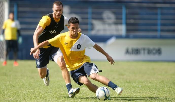Henrique e Edicleber, treino, Remo (Foto: Tarso Sarraf/O Liberal)