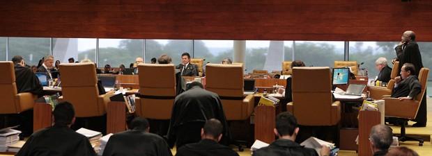 Plenário do STF, durante julgamento no último dia 27 de março (Foto: Carlos Humberto/SCO/STF)