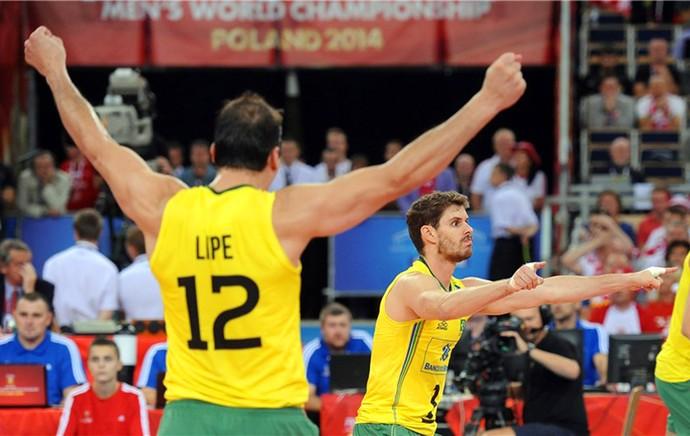 Polônia x Brasil vôlei - bruninho (Foto: Divulgação / FIVB)