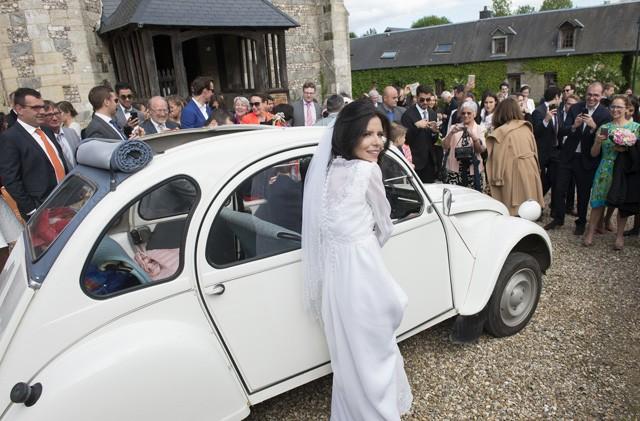Paula Padro se casou na Normandia (Foto: Acervo Pessoal)