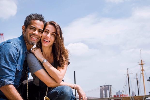 Tânia Khalill e Jairzinho em Nova York (Foto: Divulgação)